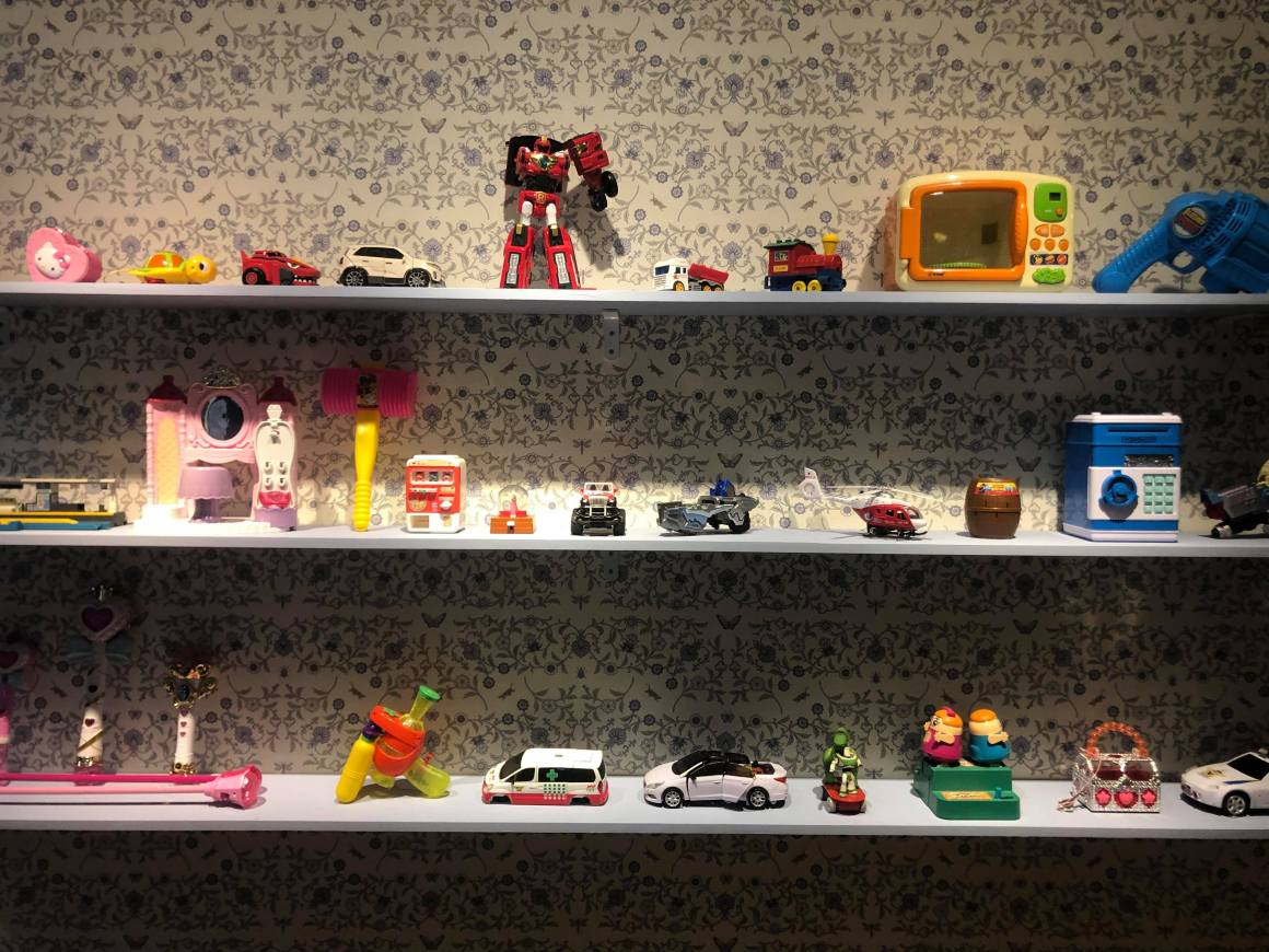 Toys displayed in the Daelim museum