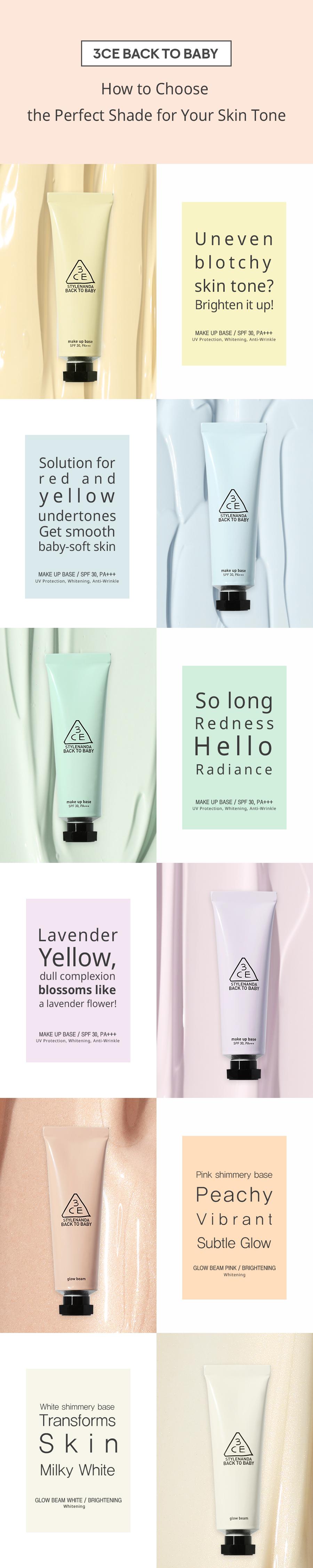 3ce Back To Baby Makeup Base : makeup, Makeup, Cream, Korea-Cifi
