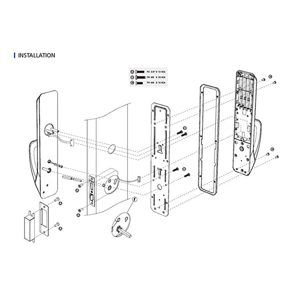 COMMAX Smart Digital Door Lock Push Pull Smart Door Lock
