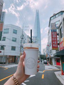 ロッテタワーとコーヒー
