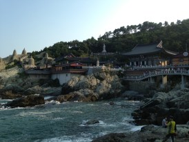 The temple by the sea in Busan.
