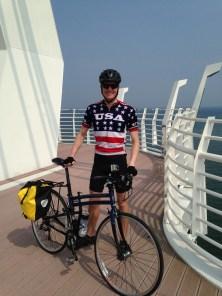 Standing on the bridge in Jinha.