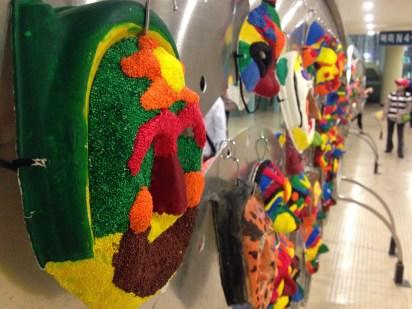 Masks kids made in school...I think.