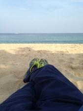 Nothing helps recovering from 13 hours of hiking like a nap on the beach the following day.