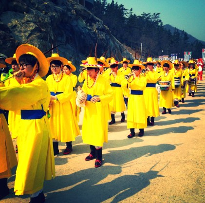 The Korean equivalent of the Michigan Marching Band.