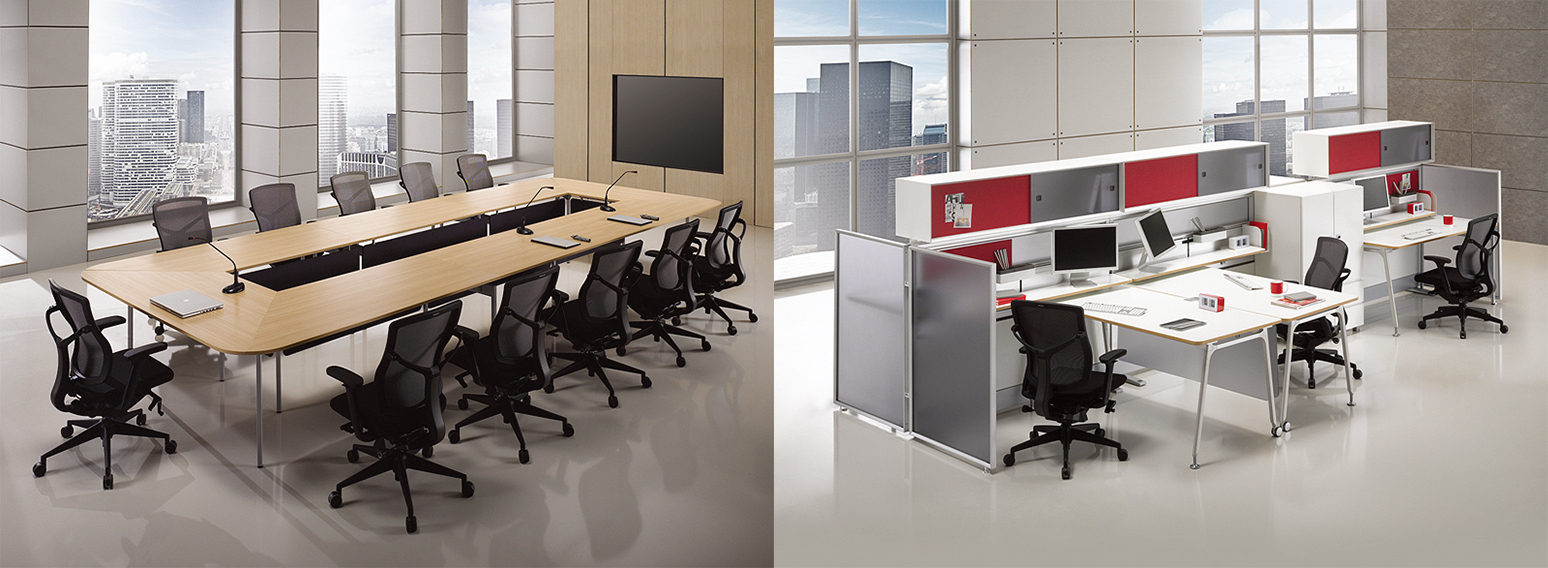 creative office environments. Reworked From The Traditional Block Partition Concept, This Open Concept Office Furniture Uses Light Screens And Half To Create A More Personable Creative Environments