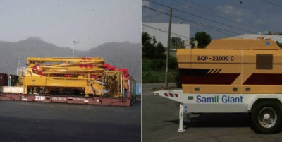 Construction Equipment for Concrete Movement and Pumpin