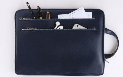 Leather Laptop Bag & Pouch