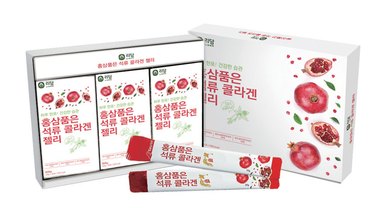 LIDAM Pomegranate Collagen Jelly Containing Red Ginseng
