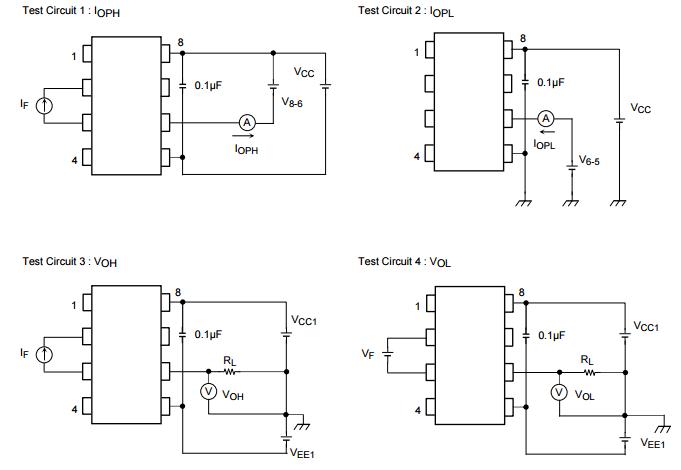 TLP250 트랜지스터 변환장치 텔레비젼 회로판 칩, 지도된 운전사 회로판