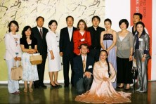 Members and guest members with the ambassador and Mr Choi