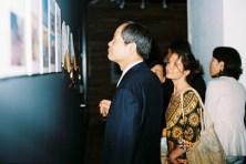 The ambassador reviews the artist CVs