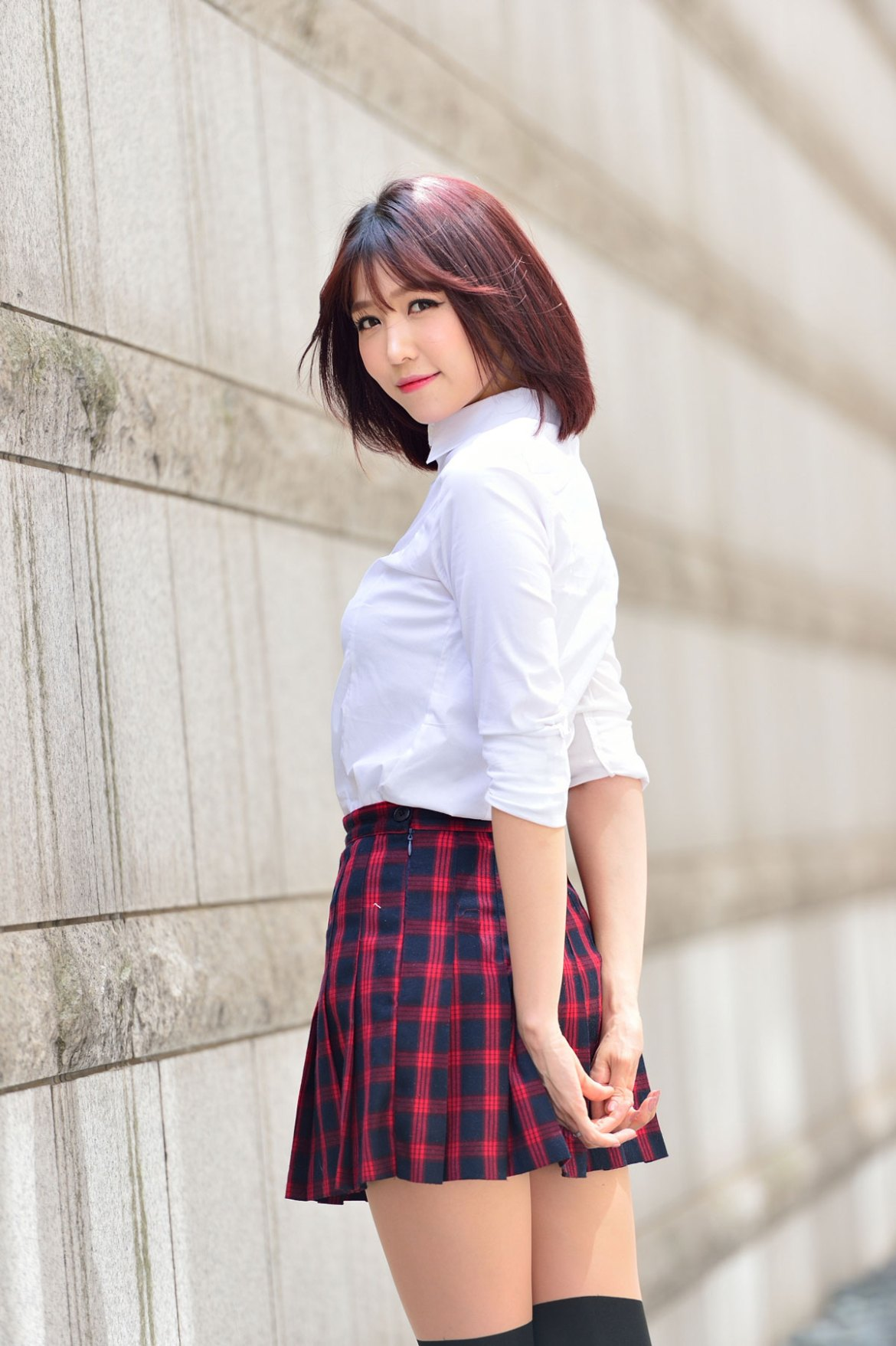 Korean model Lee Eun Hye school fashion