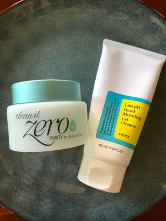 korean double cleansing routine oil cleanser water foaming cleanser COSRX banila co clean it zero cleansing balm