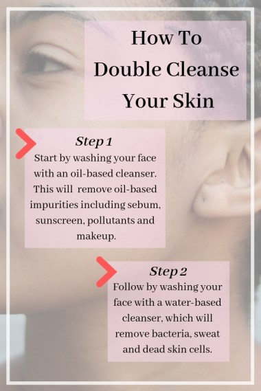 how to double cleanse korean skincare double cleansing