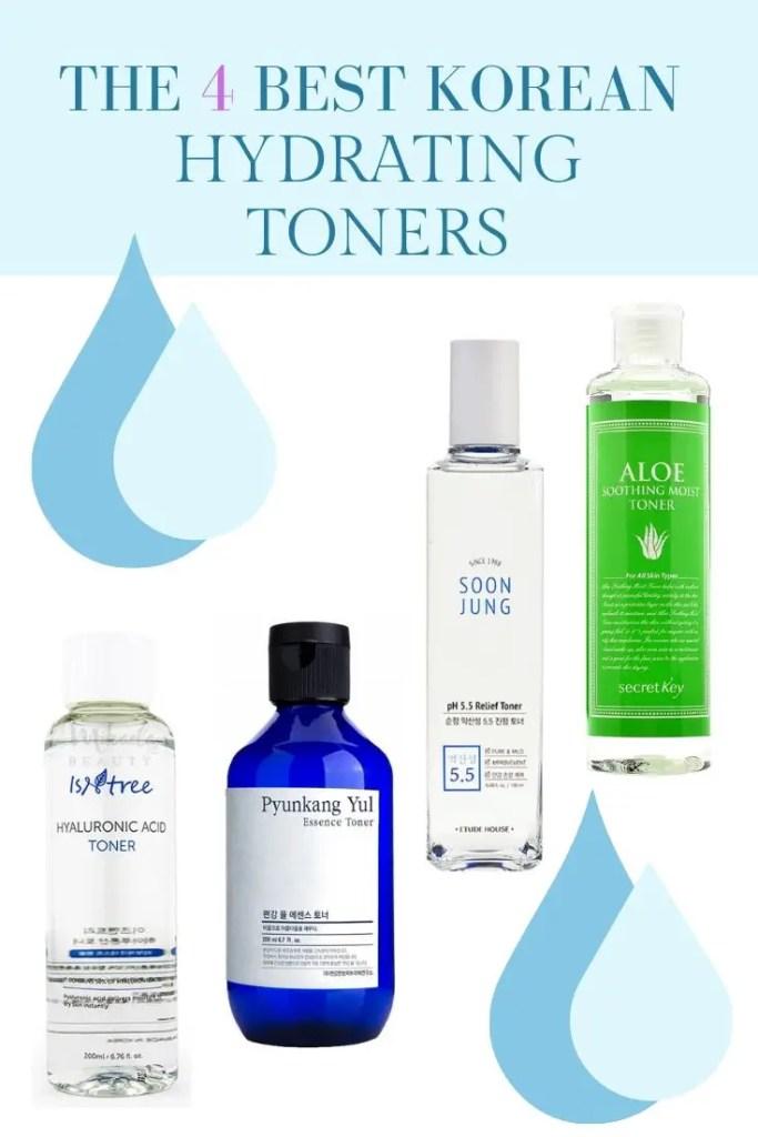 best korean hydrating toners isntree hyaluronic acid toner pyunkang yul essence toner soon jung toner korean hydrating products