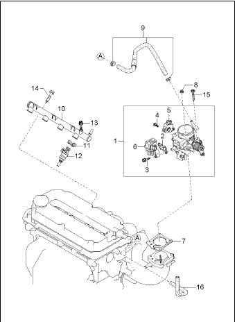 0K247-20660 Actuator Idle Speed Control 0K9A220660A Kia