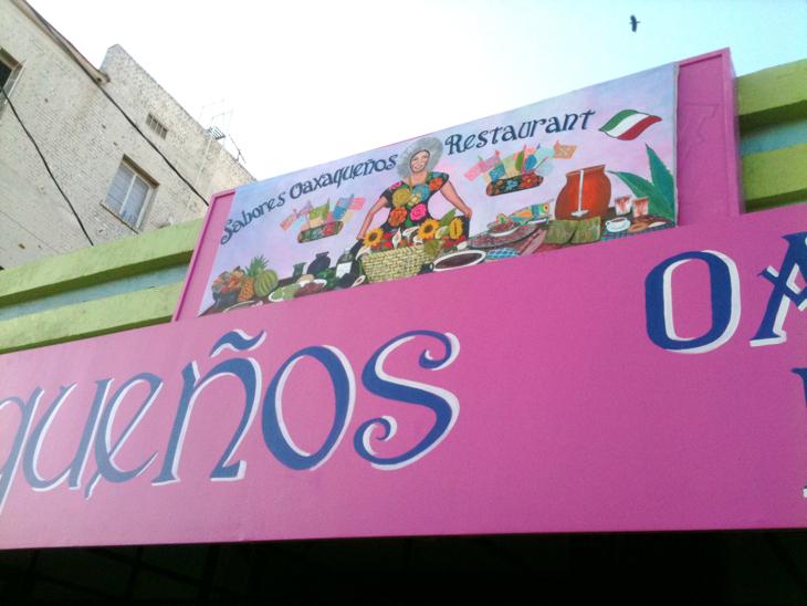 Oaxacan Restaurant on 8th Street in LA