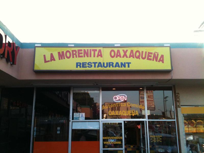 La Morenita: Oaxacan Restaurant on 3rd Street