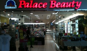 Beauty supply store inside the Koreatown Galleria mall.