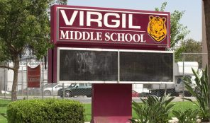 Virgil Middle School sign