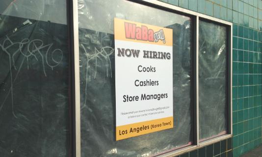 WaBa Grill on Western Avenue by Wilshire Boulevard