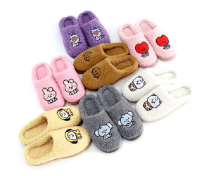 cute BTS slippers