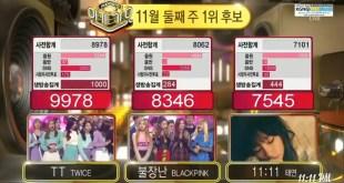 """فرقة TWICE تفوز في """"Inkigayo"""" بـ """"TT"""" و آداءات لـ BLACKPINK، T-ara، EXO-CBX و الكثير !"""