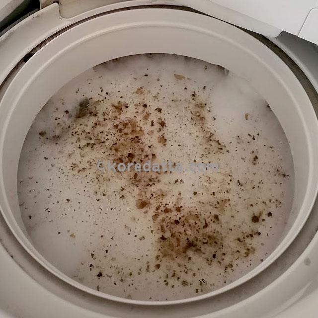シャボン玉石けんの洗たく槽クリーナーの使い方や掃除した結果。酸素系漂白剤との違い