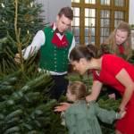 スウェーデン王室 クリスマスツリーを受け取る母娘。