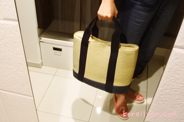 ベルティーニ製のムーニュ風かごバッグ