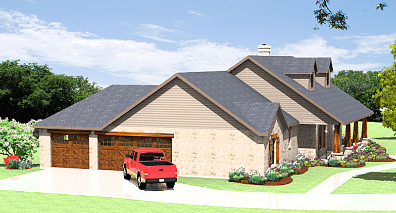 Texas Hill Country Ranch S2786L  Texas House Plans  Over