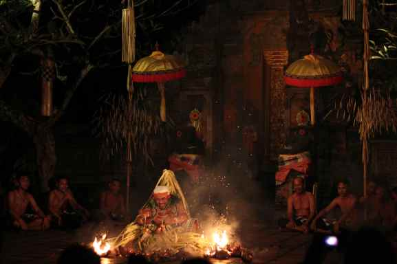 Traditional fire dance, Bali, 2012.