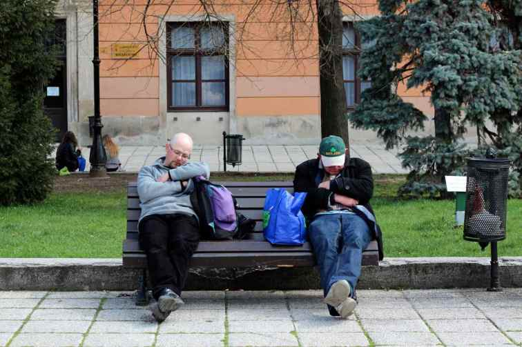 Afternoon nap time in Eger, Hungary.