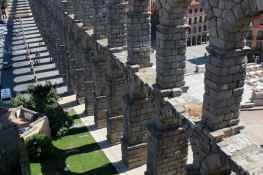 The enormous Roman-era aqueduct of Segovia, Spain.