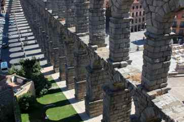 The enormous Roman-era aqueduct of Segovia, Spain.