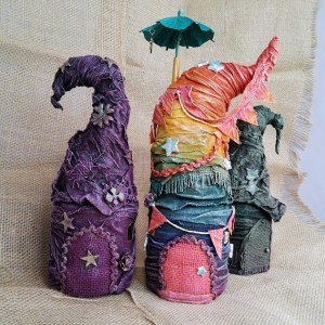 Powertex fairy houses by Kore Sage