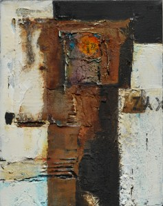 Rusty mixed media painting by Kore Sage