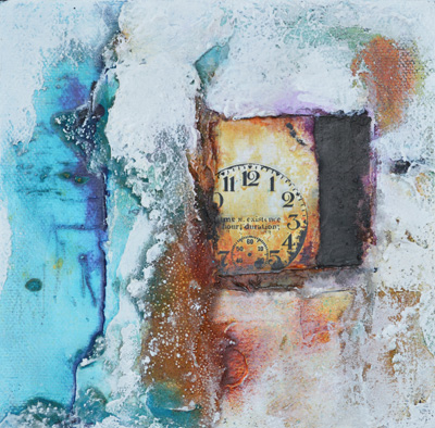 Powertex and mixed media canvas by Kore Sage