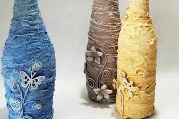 Pastel Powertex bottle vases by Kore Sage