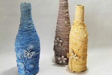 Powertex pastel bottle vases by Kore Sage