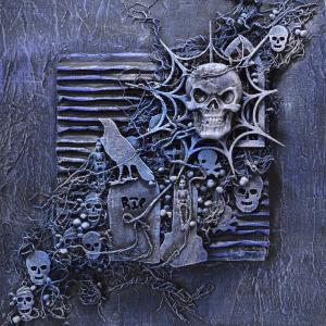 Skulls mixed media