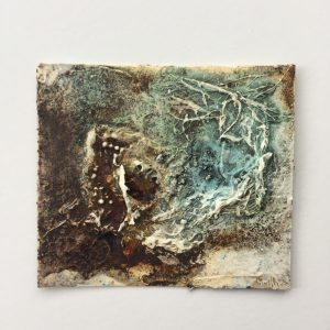 Powertex art with Rusty Powder and Blue Bister