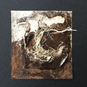 Powertex and Rusty powder mixed media mini art
