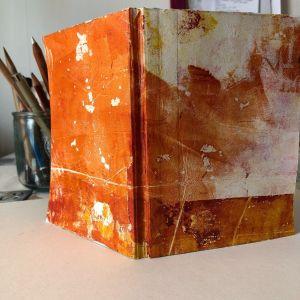 Handmade book on the art table September 2021