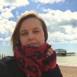 Kore Sage pictured on Brighton Beach with West Pier in the background