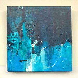 Deep blue seascape painting by Kore Sage