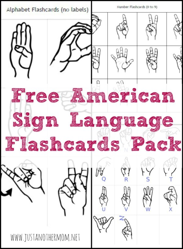FREE Sign Language Printables and Resources Homeschool