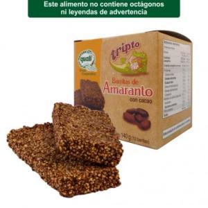 Barritas de amaranto con cacao