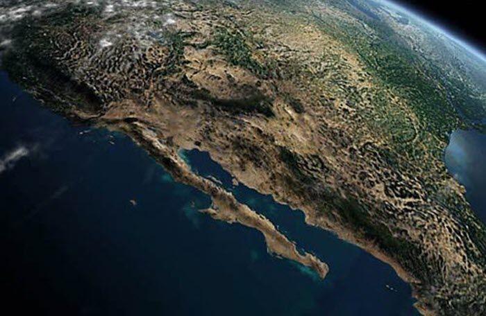 Baja California - Foto Satelite